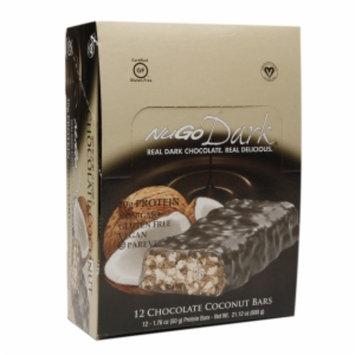 Nugo Nutrition NuGo Nutrition NuGo Dark Bars Gluten Free Chocolate Coconut 12 Bars - Vegan