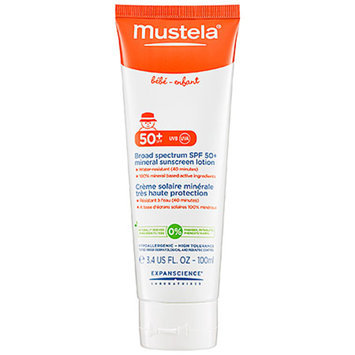 Mustela Broad Spectrum SPF 50+ Mineral Sunscreen Lotion