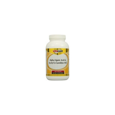 Nutraceutical Sciences Institute  NSI Vitacost Alpha Lipoic Acid & Acetyl L-Carnitine HCl -- 700 mg - 240 Capsules
