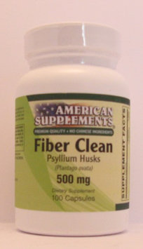 Fiber Clean 50 MG No Chinese Ingredients American Supplements 100 Caps