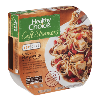 Healthy Choice Cafe Steamers Top Chef Chicken Margherita with Balsamic