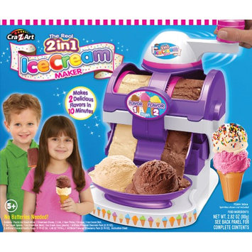 Larose Industries Llc Cra-Z-Art 2 In 1 Ice Cream Maker Makes 2 Delicious Flavors In 10 Minutes