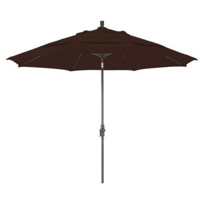 California Umbrella 11' Aluminum Collar Tilt Crank Patio Umbrella - Pacifica