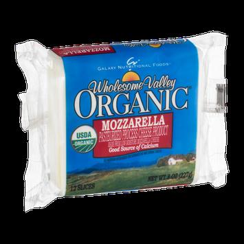 Wholesome Valley Organic Mozzarella Cheese Slices - 12 CT