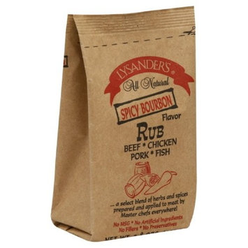 Lysander's Rub, Spicy Bourbon Flavor, 3.8-Ounce (Pack of 6)