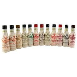 Fee Brothers Bar Cocktail Bitters Complete Set - 12 Bottles