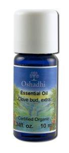 Oshadhi - Essential Oil Singles, Clove Bud, Extra, Organic 10 mL