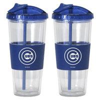 Boelter Brands MLB 22oz Cubs No Spill Straw Tumbler set/2