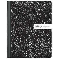 Office Depot(R) Brand Composition Book, Marble, 7 1/2in. x 9 3/4in, College Ruled, 100 Sheets, Black/White