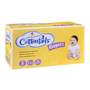 Cottontails Diapers Size 3 - 16-28 lb