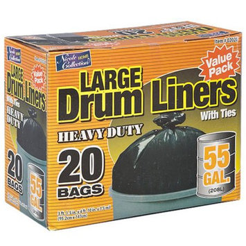 Nicole Home Collection 02028 55 Gallon Drum Line Trash Bags - 120 Per Case