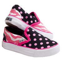Toddler Girl's Xolo Shoes Zany Zebra Slip-on Sneakers - Multicolor (9)