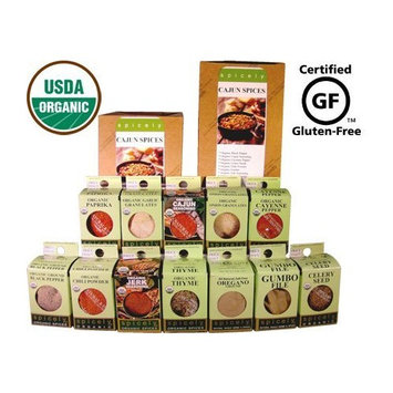 Spicely Organic Spices Gift Set Favorite Cajun 12-box Sampler .............. Low Rate Shipping