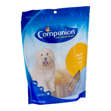 Companion Dental Sticks Medium & Large Dogs - 18 CT