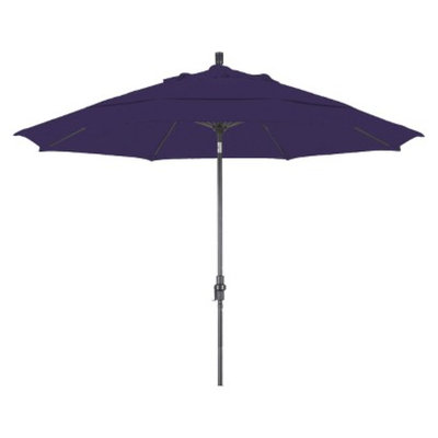 California Umbrella 11' Aluminum Collar Tilt Crank Patio Umbrella - Pacifica
