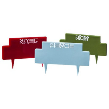 Threshold Holiday Cheese Markers Set of 3 - Red/Blue/Green