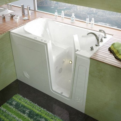 Spa Worldcorp Meditub 30X54 Right Drain White Whirlpool Jetted Walk-In Bathtub