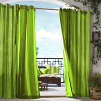 Outdoor Decor Gazebo Stripe Indoor/Outdoor Grommet Top Window Panel -