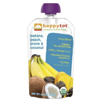 Happy Baby Organic Baby Food Pouch Stage 4 Banana/Peach/Coconut/Prune