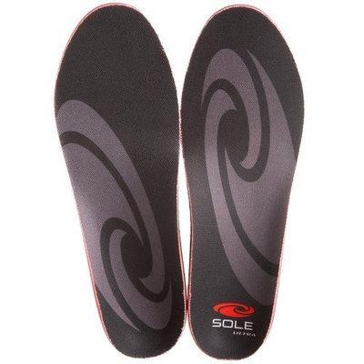 Sole Unisex Softec Ultra Insole,Black/Grey,Men's 7.5-8 M/Women's 9.5-10 M