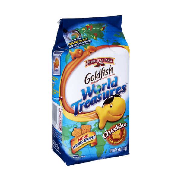 Goldfish® World Treasurers Cheddar Baked Snack Crackers