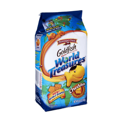 Pepperidge Farm Goldfish World Treasurers Cheddar Baked Snack Crackers