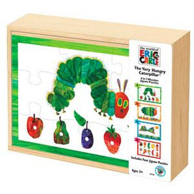 BePuzzled The Very Hungry Caterpillar 4 in 1 Wooden Jigsaw Puzzle Set Ages 3+