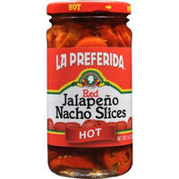 La Preferida Red Jalapeno Nacho Slices, Hot, 11.5-Ounce (Pack of 12)