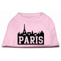 Mirage Pet Products 5171 XXXLLPK Paris Skyline Screen Print Shirt Light Pink XXXL 20
