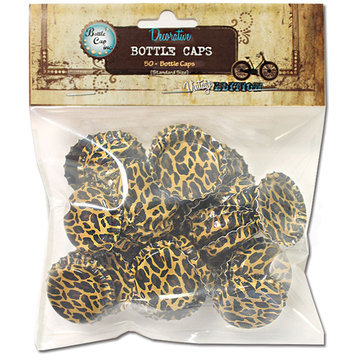 Bottle Cap Inc 50pk Cheetah Bottle Caps