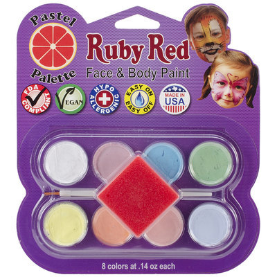 Ruby Red Face Paint Kit-Pastel