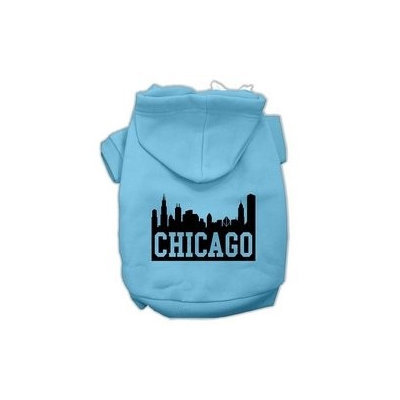 Mirage Pet Products Chicago Skyline Screen Print Pet Hoodies Baby Blue Size Lg (14)