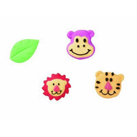 Wilton Jungle Pals lcing Decorations, 12-Pack