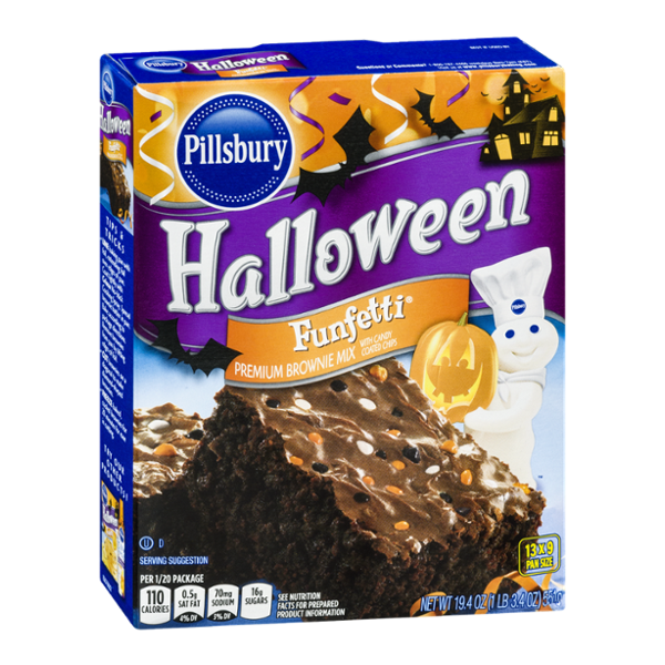 Pillsbury Halloween Funfetti Premium Brownie Mix 13 x 9 Pan Size