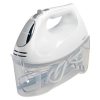 Hamilton Beach 6 Speed White Hand Mixer with Case