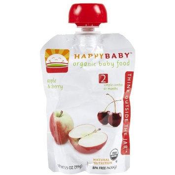 Happybaby Happy Baby Organic Baby Food Apple And Cherry