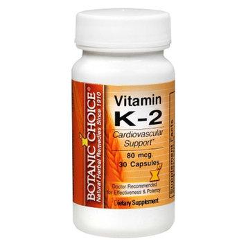 Botanic Choice Vitamin K-2 80 mcg Dietary Supplement Capsules
