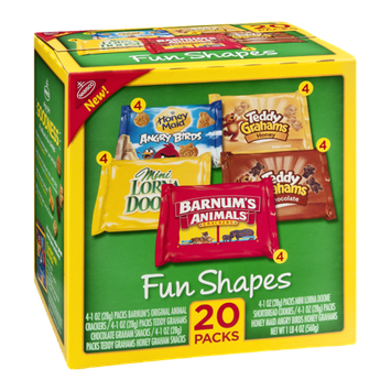 Nabisco Fun Shapes Crackers Variety Pack - 20 CT