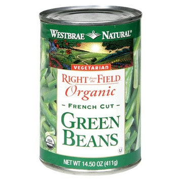 Westbrae Natural Vegetarian Organic Green Beans, French Cut, 14.5 Ounce Cans (Pack of 12)