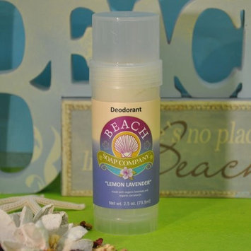 Beach Organics Skin Care Certified Organic Deodorant - Aluminum, Talc, and Paraben Free, Lemon Lavender Scent. Made and sold by Beach Organics. 2.5 oz.