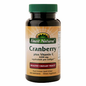 Finest Natural Cranberry Plus Vitamin C Triple Strength Softgels