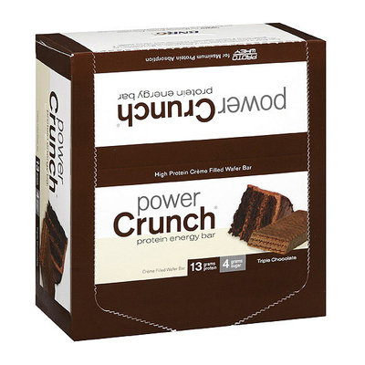 Power Crunch Triple Chocolate Creme Filled Wafer Protein Energy Bars