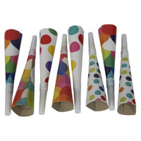 Spritz Patterned Horn Blowers Multicolored
