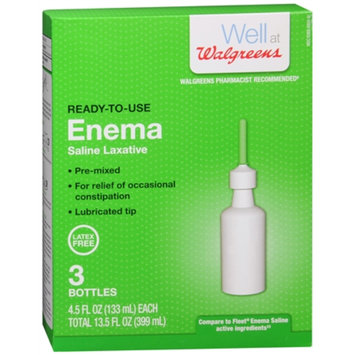 Walgreens Ready-to-Use Enema Saline Laxative 3 Pack, 13.5 oz