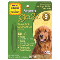 Sergeant's Pet Sergeant's 60-Pound Gold Flea and Tick Squeeze-On Dog Over