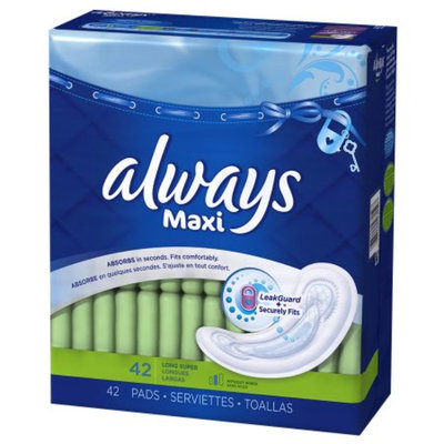 Always Maxi Pads Without Wings