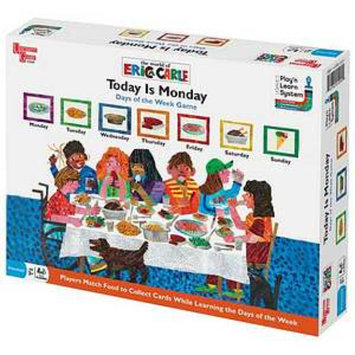 University Games Today is Monday Days of the Week Game Ages 3 and up, 1 ea