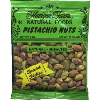 Flanigan Farms Natural Foods Pistachios Meats, Unsalted 2oz (6 Pack)