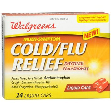 Walgreens Daytime Multi-Symptom Cold/Flu Relief Liquid Caps