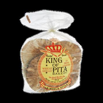 King Of Pita Bakery Wheat Bread Mini Loaves Pitas- 10 CT